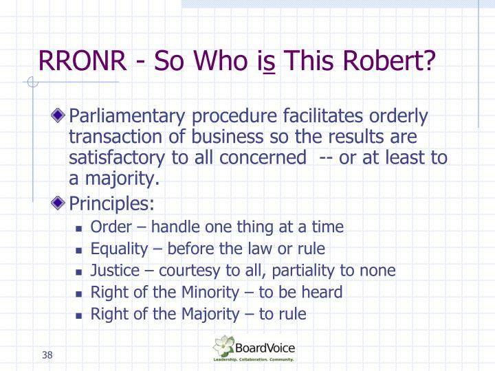 RRONR - So Who i