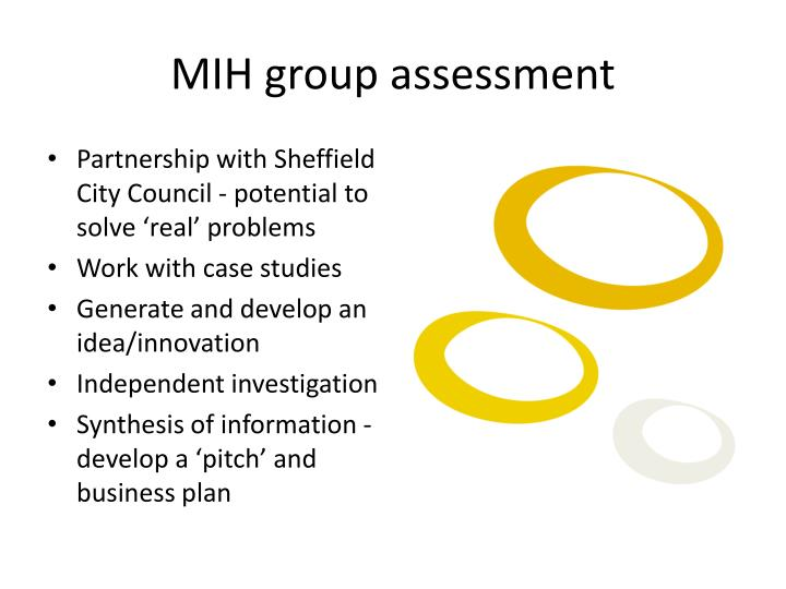 MIH group assessment