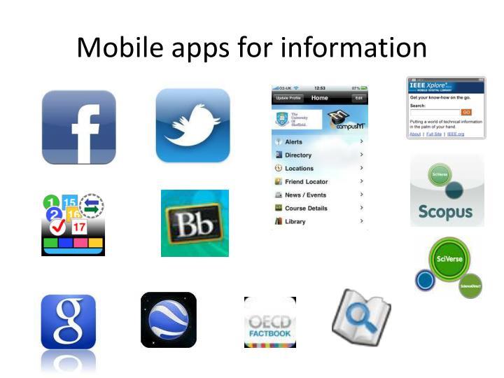Mobile apps for information