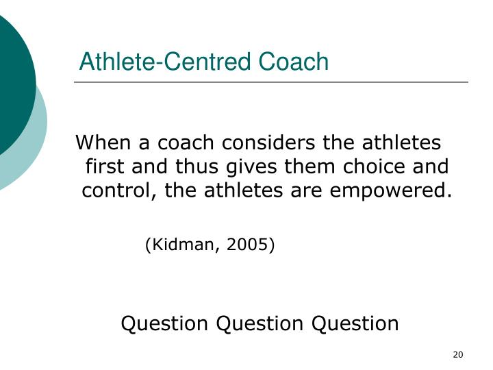 Athlete-Centred Coach