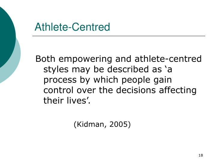 Athlete-Centred