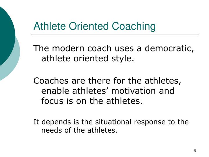 Athlete Oriented Coaching