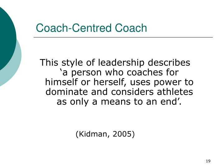 Coach-Centred Coach