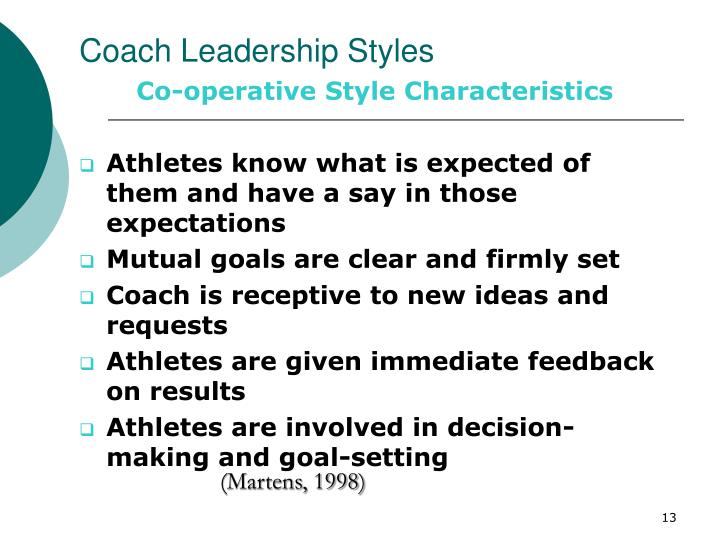 Coach Leadership Styles