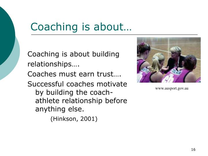 Coaching is about…