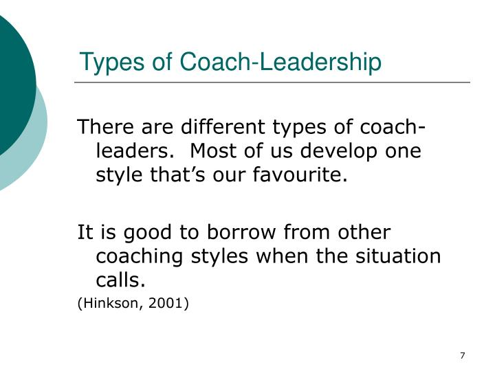 Types of Coach-Leadership