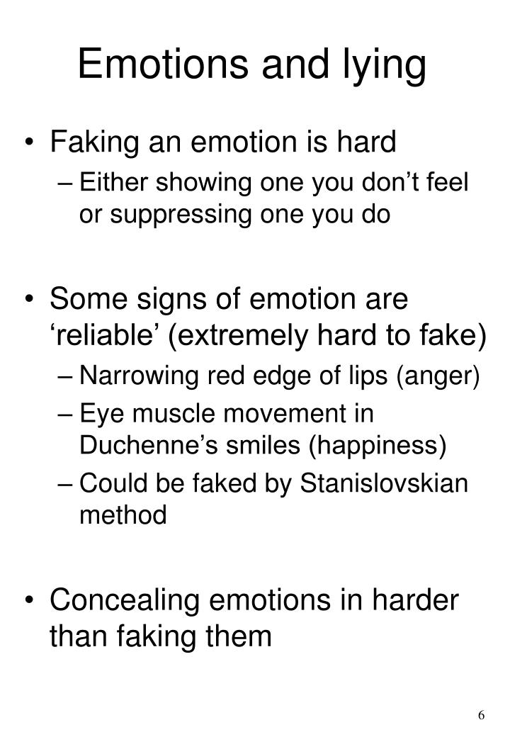 Emotions and lying