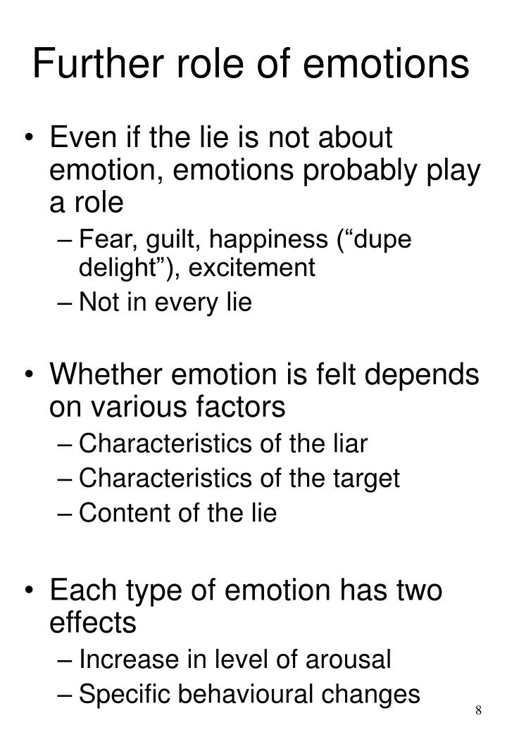 Further role of emotions