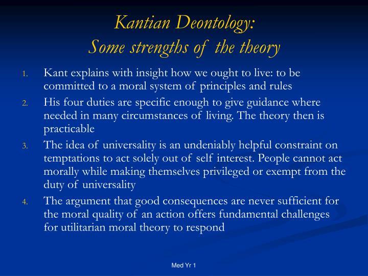 Kantian Deontology: