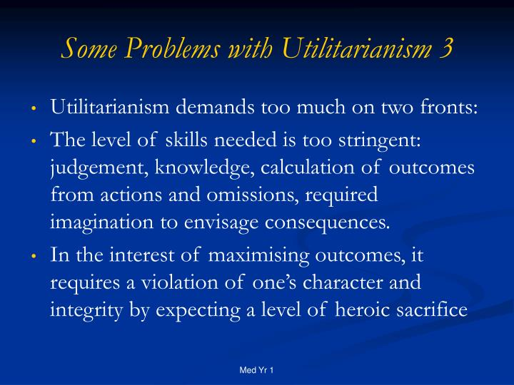 Some Problems with Utilitarianism 3