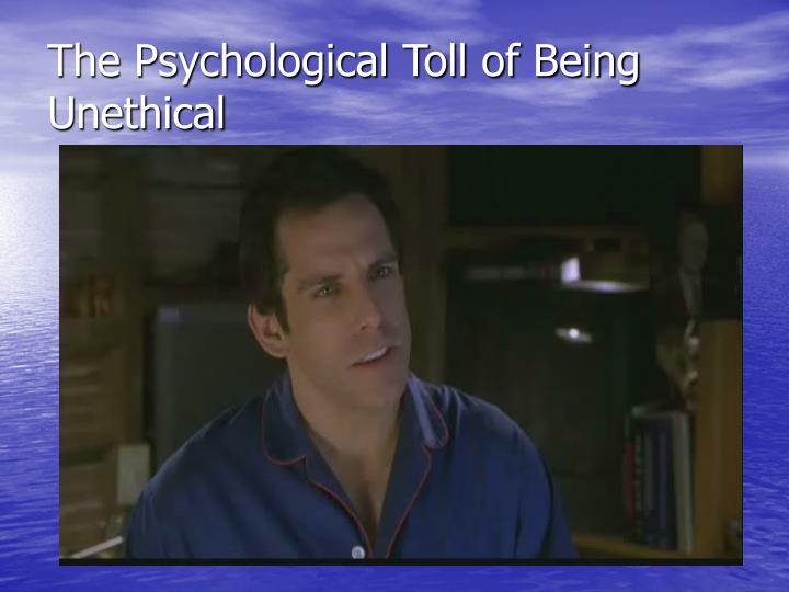 The Psychological Toll of Being Unethical