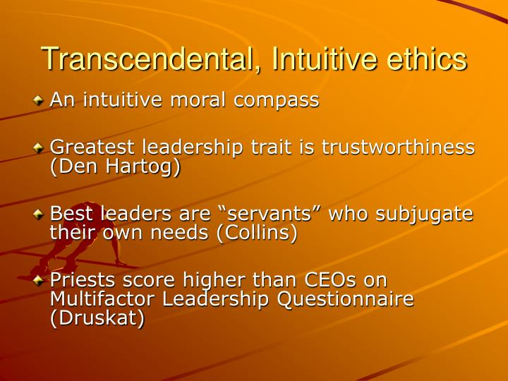 Transcendental, Intuitive ethics