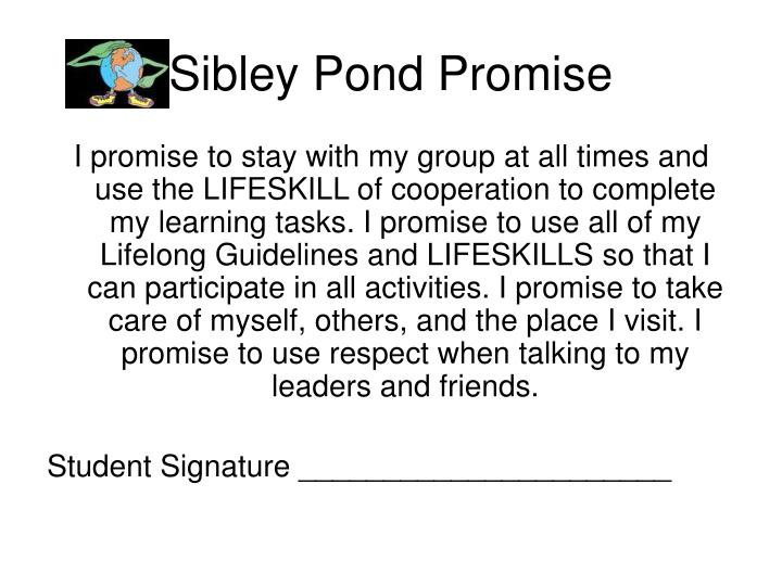 Sibley Pond Promise