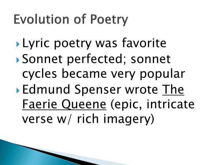 Evolution of Poetry
