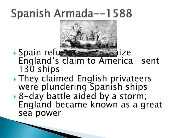 Spanish Armada--1588