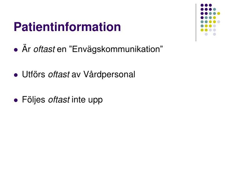 Patientinformation