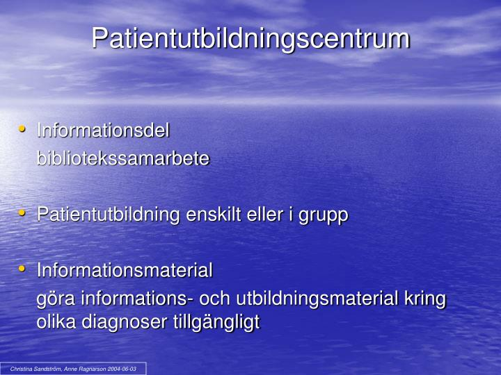 Patientutbildningscentrum