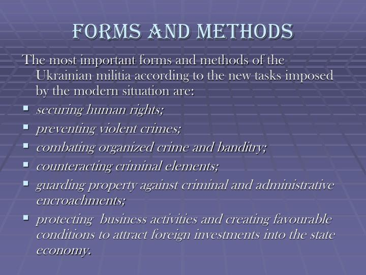 forms and methods