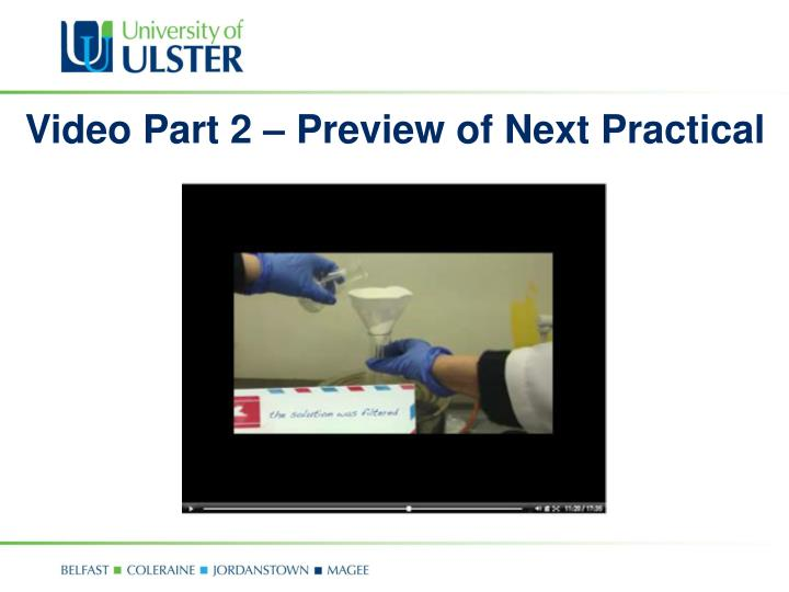 Video Part 2 – Preview of Next Practical