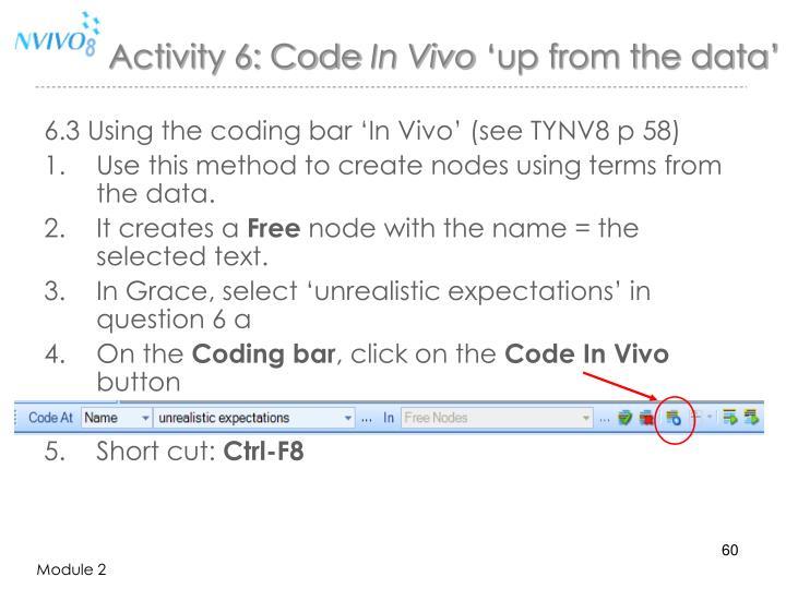 Activity 6: Code