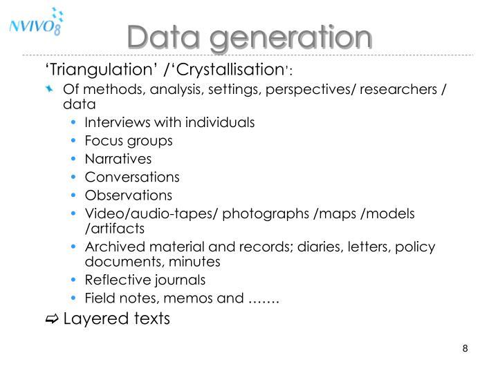 Data generation