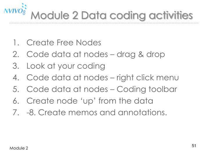 Module 2 Data coding activities