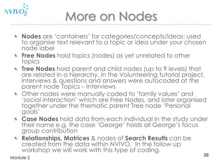 More on Nodes