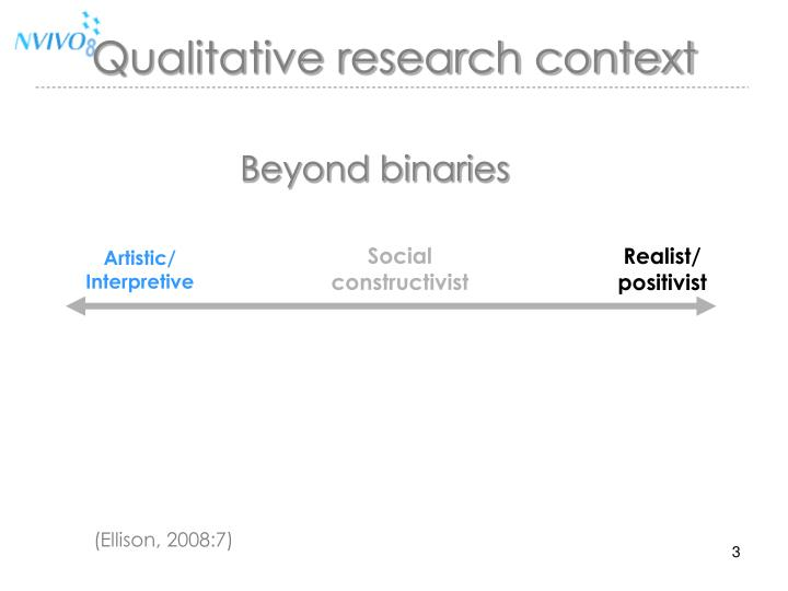 Qualitative research context