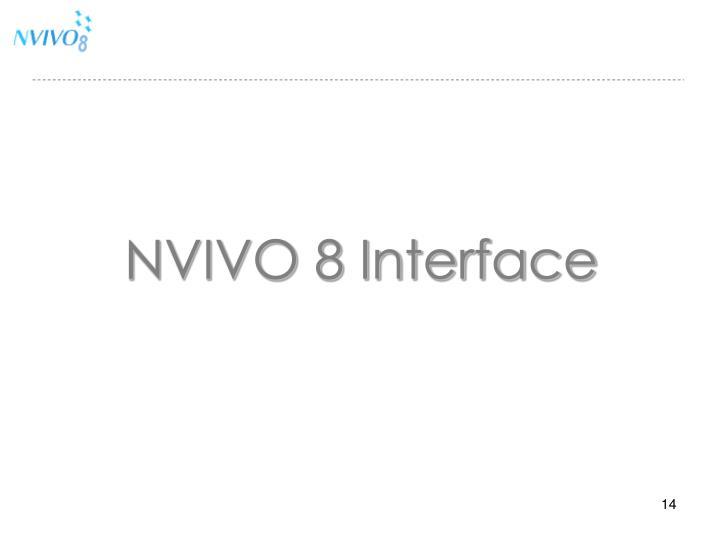 NVIVO 8 Interface