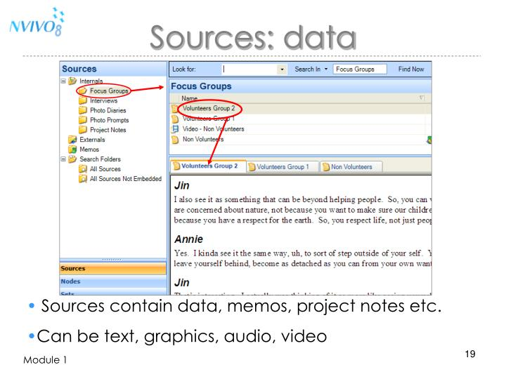 Sources: data