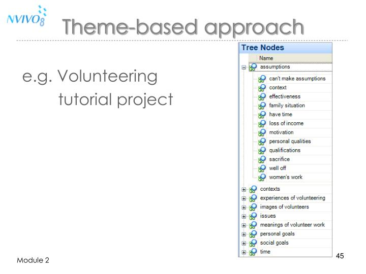 Theme-based approach