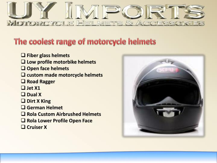 The coolest range of motorcycle helmets