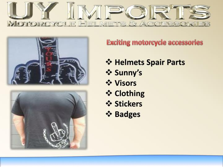 Exciting motorcycle accessories