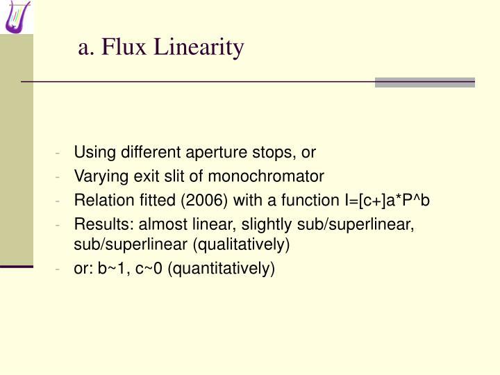a. Flux Linearity