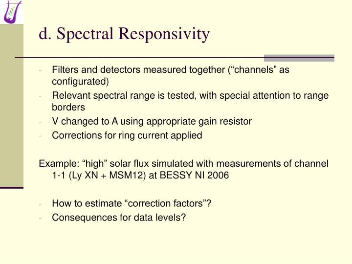 d. Spectral Responsivity