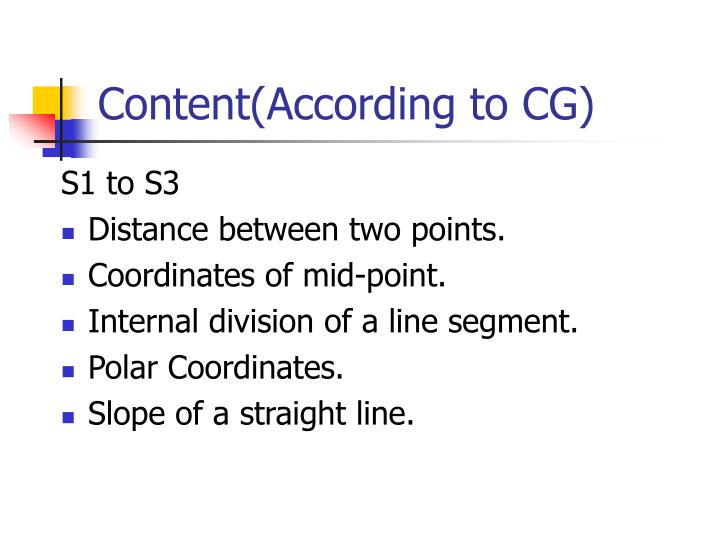 Content according to cg