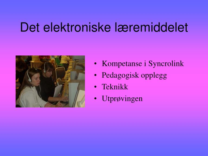 Det elektroniske læremiddelet