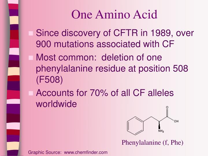 One Amino Acid