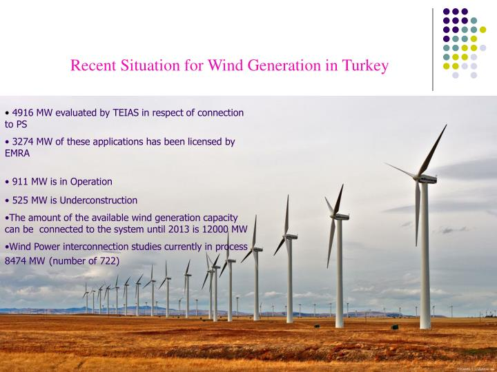 Recent Situation for Wind Generation in Turkey