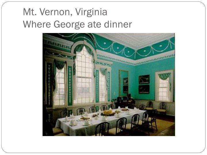 Mt. Vernon, Virginia