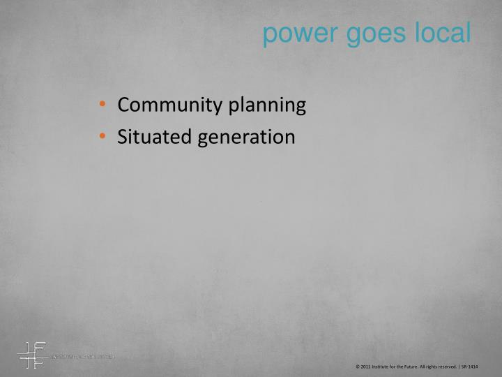 power goes local