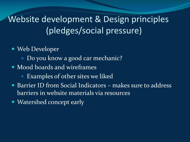 Website development & Design principles