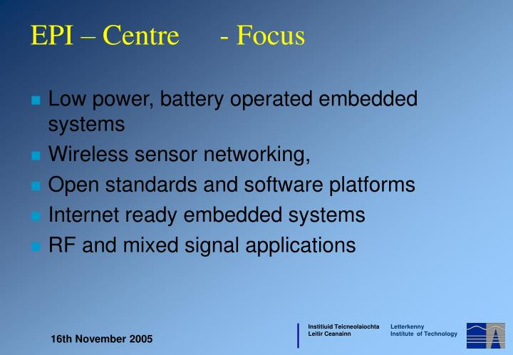 Low power, battery operated embedded systems