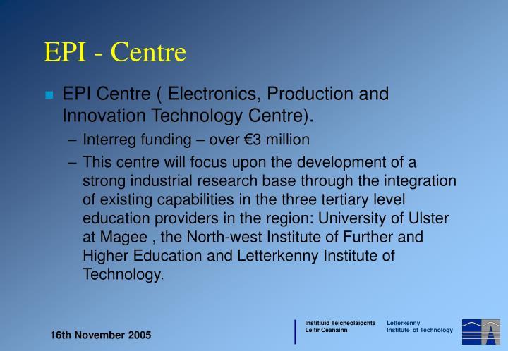 EPI Centre (