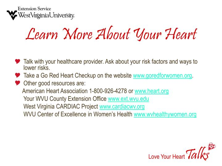 Learn More About Your Heart