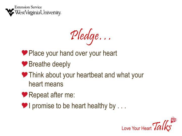Pledge…