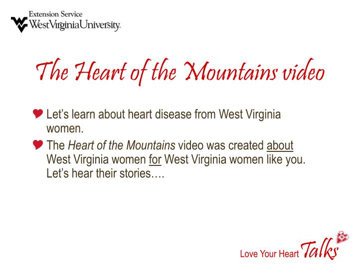The Heart of the Mountains video