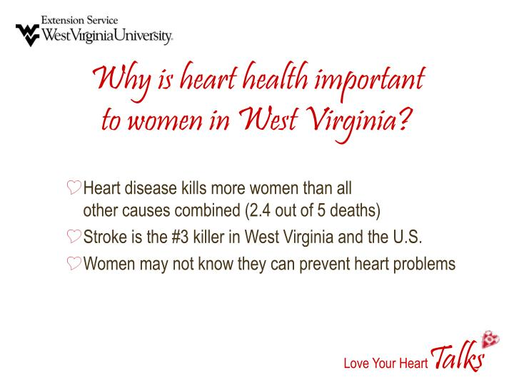 Why is heart health important