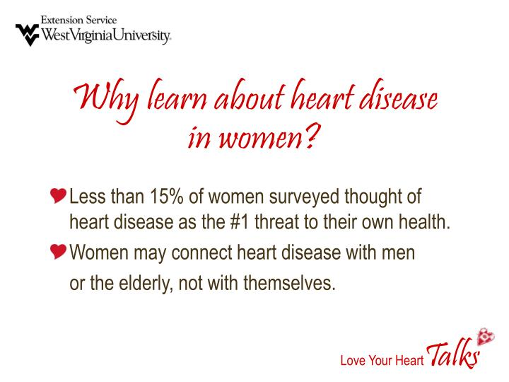 Why learn about heart disease