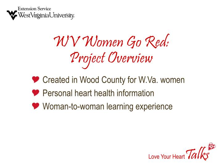 Wv women go red project overview